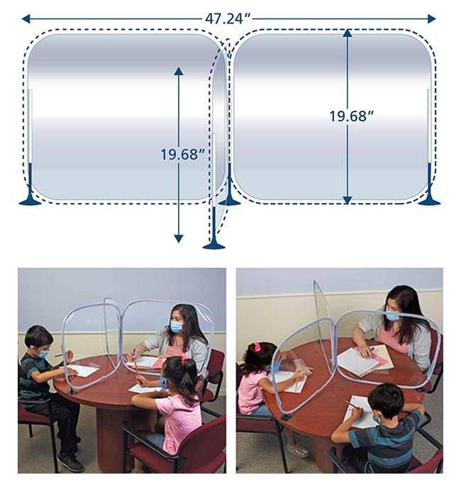 Excellerations® 3 Way Desktop Barrier - BARRIERT