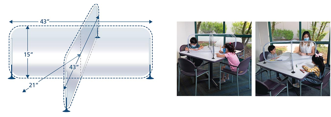 Excellerations® 4-Way Desktop Barrier - BARRIERX