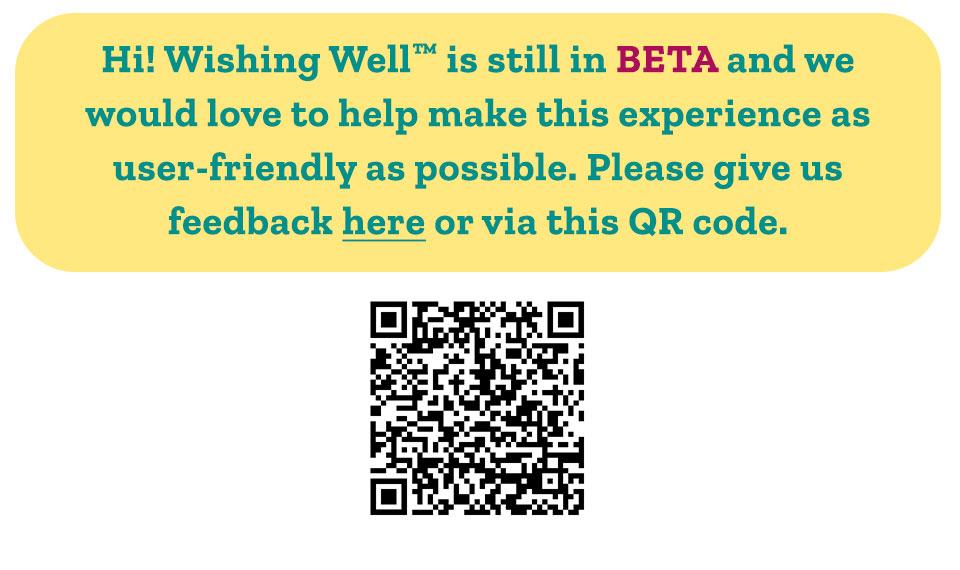 Welcome to Wishing Well Beta