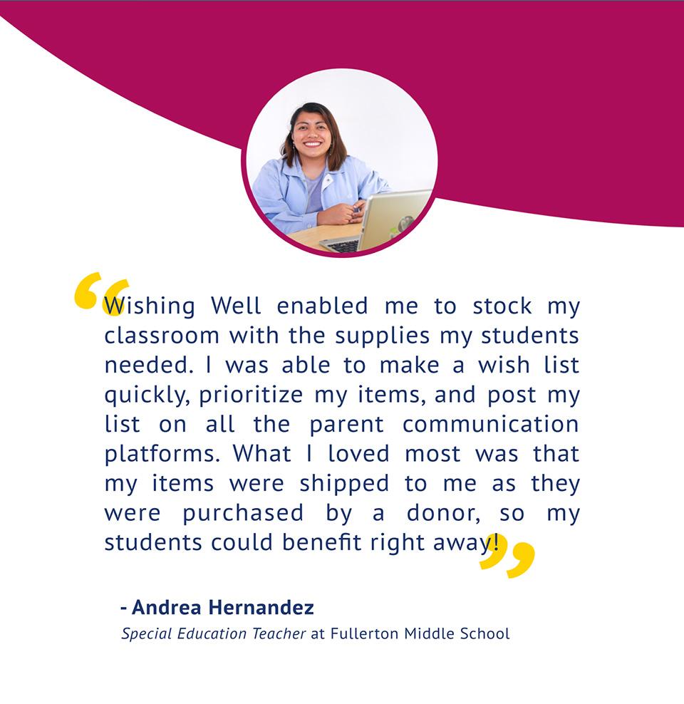 Andrea Hernandez, Special Education Teacher at Fullerton Middle School