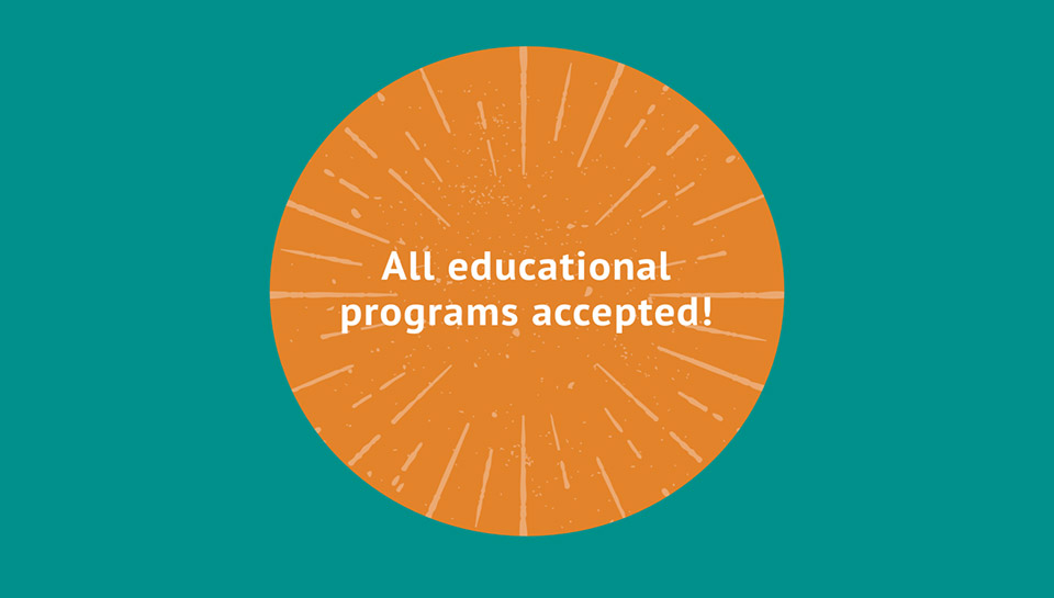 All educational programs accepted!