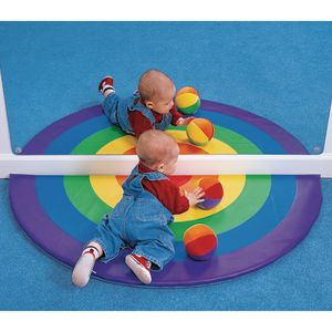 Environments® Half Circle Rainbow Mat