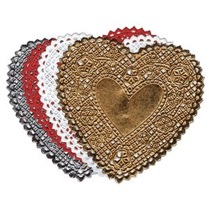 "Small Heart Doilies, 4"" - Pack of 100"