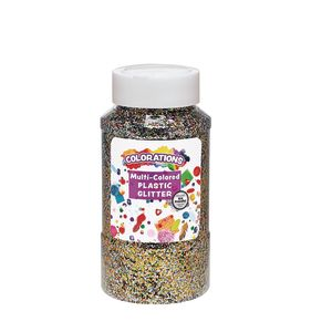 Colorations® Extra-Safe Plastic Glitter, Multi - 1 lb.