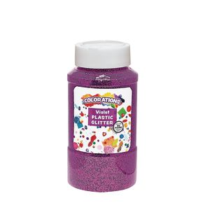Colorations® Extra-Safe Plastic Glitter, Violet - 1 lb.
