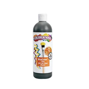 BioColor® by Colorations, Black Paint, 16 oz.