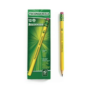 Ticonderoga® Beginners® No. 2 Pencils - With Erasers, Set of 12