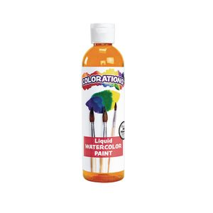 Colorations® Liquid Watercolor™ Paint, Orange - 8 oz.