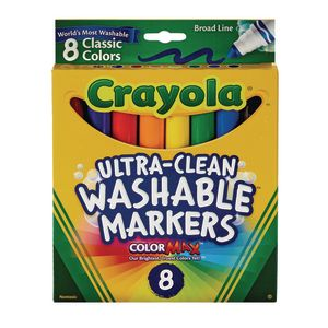 Crayola® Conical Tip Markers - Washable, Set of 8