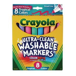 Crayola® Tropical Colors Washable Markers - Set of 8
