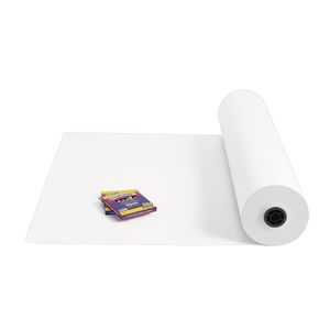 "36"" White 40 lb. Butcher Paper Roll"