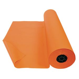Colorations® Dual Surface Paper Roll, Orange, 36