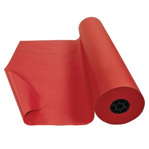 Colorations® Dual Surface Paper Roll, Scarlet Red, 36