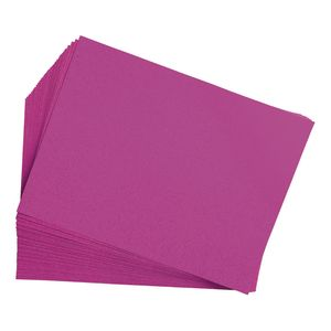 """Magenta 9"""" x 12"""" Heavyweight Construction Paper Pack - 50 Sheets"""