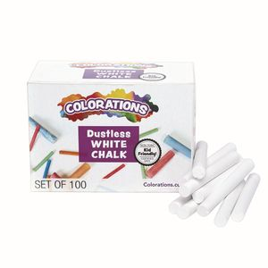 Colorations® White Dustless Chalk - 100 Pieces