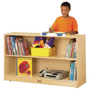 Mobile Adjustable Bookcase without Lip - Preschool
