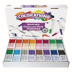 Colorations® Washable Classic Markers Classroom Pack - Set of 256
