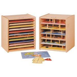 Adjustable 12-Space Puzzle Rack