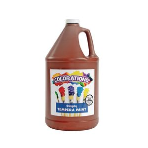 Colorations® Simply Tempera Paint, Brown - 1 Gallon