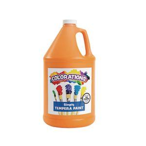Colorations® Simply Tempera Paint, Orange - 1 Gallon
