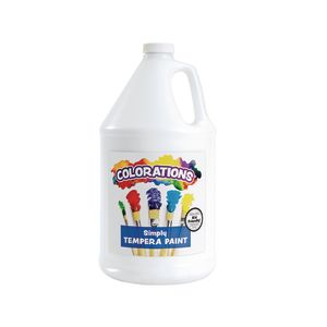 Colorations® Simply Tempera Paint, White - 1 Gallon