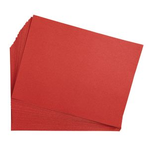 """Red 9"""" x 12"""" Heavyweight Construction Paper Pack - 50 Sheets"""