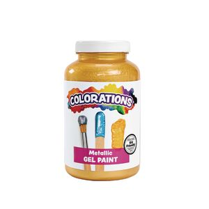 Colorations® Metallic Gel Paint, Gold - 16 oz.