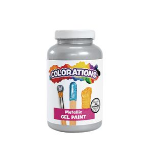 Colorations® Metallic Gel Paint, Silver - 16 oz.