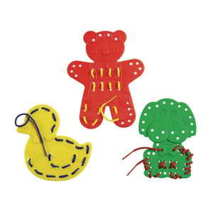 Excellerations® Extra-Large Animal Lacing Shapes - 9 Cards