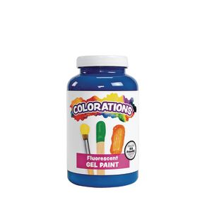 Colorations® Gel Paint, Fluorescent Blue, 16 oz.