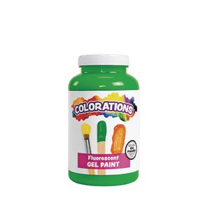 Colorations® Gel Paint, Fluorescent Green, 16 oz.