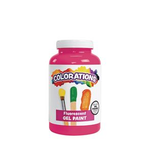 Colorations® Gel Paint, Fluorescent Pink, 16 oz.