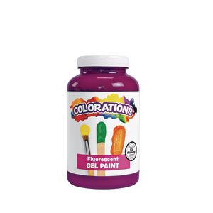 Colorations® Gel Paint, Fluorescent Purple, 16 oz.