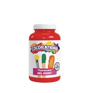 Colorations® Gel Paint, Fluorescent Red, 16 oz.