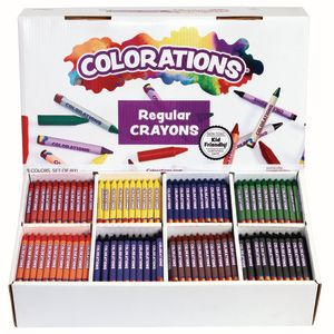 Colorations® Regular Crayons - 8 Colors, Set of 800