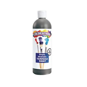 Colorations® Black Simply Washable Tempera, 16oz.