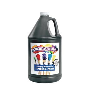 Colorations® Simply Washable Tempera Paint, Black - 1 Gallon