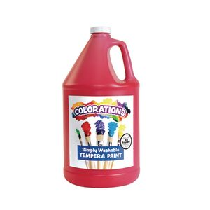 Colorations® Simply Washable Tempera Paint, Red - 1 Gallon