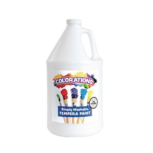 White Colorations® Simply Washable Tempera Paint - 1 Gallon