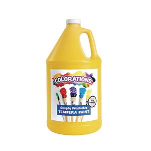 Yellow Colorations® Simply Washable Tempera Paint - 1 Gallon