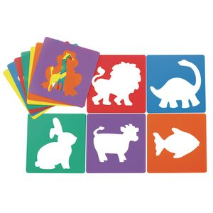 "Colorations Animal Shape Stencils, 8"" - Set of 12"