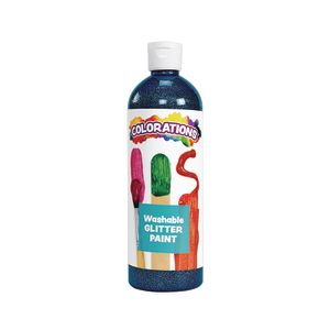 Colorations® Washable Glitter Paint, Blue - 16 oz.