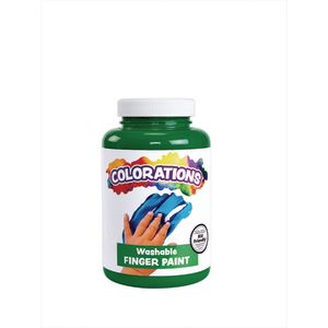 Colorations® Washable Finger Paint, Green - 16 oz.