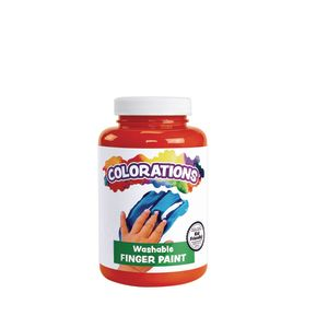 Colorations® Washable Finger Paint, Orange - 16 oz.