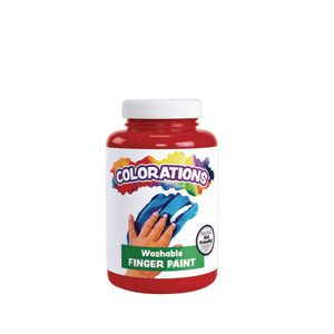 Colorations® Washable Finger Paint, Red - 16 oz.