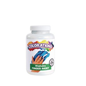 Colorations® Washable Finger Paint, White - 16 oz.