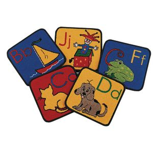 "ABC Phonic 12"" Squares - Set of 26 Kids Value PLUS Carpets"