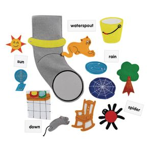 Excellerations® The Itsy, Bitsy Spider Felt Story Pieces
