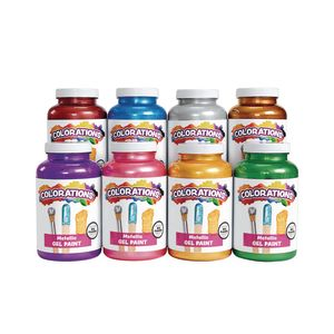 Colorations® Metallic Gel Paints, 16 oz. -  Set of 8
