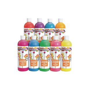 BioColor® Paint, Fluorescent, 16 oz. - Set of 9